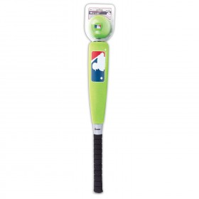 "Batte de Baseball en mousse MLB Franklin 24"" et ball en mousse verte"