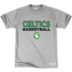 _MN-NBA-PURESHOOTTEE-BOSCEL-GREYT-Shirt NBA Boston Celtics Mitchell & ness Pure Shooter Gris pour Homme