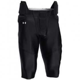 UFPP1M_Pantalon de Football Américain Under armour tout intégré Noir pour homme