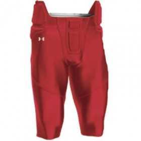 Pantalon de Football Américain Under armour tout intégré Rouge pour homme