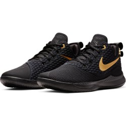 Chaussure de Basketball Nike Zoom Lebron Witness III Noir Or pour homme