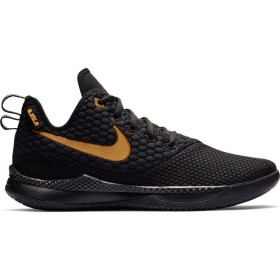 AO4433-003_Chaussure de Basketball Nike Zoom Lebron Witness III Noir Or pour homme