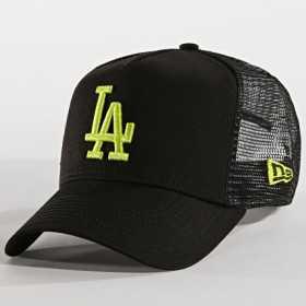 11871469_Casquette MLB Los Angeles Dodgers New Era League Essential Trucker Noir