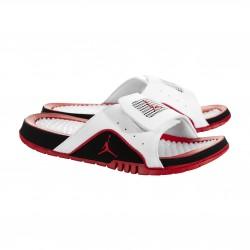 0a4b2186dc57d 532225-160 Sandales Jordan Hydro 4 Retro IV blanc Fire red  Sandales ...