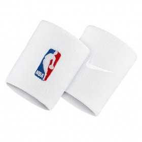 NKN03100OS_Poignet éponge NBA Nike LogoMan Blanc