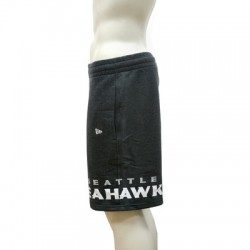 Short NFL Seattle Seahawks New Era Wrap Around Noir pour homme