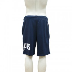 Short NFL New England Patriots New Era Wrap Around Bleu Marine pour homme