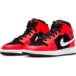 Chaussures de Basket Air Jordan 1 Mid BG Orange pour junior