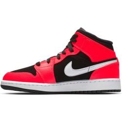 sale retailer f0d13 314f3 Chaussures de Basket Air Jordan 1 Mid BG Orange pour junior