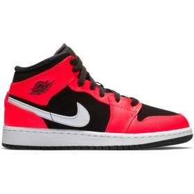 554725-061_Chaussures de Basket Air Jordan 1 Mid BG Orange pour junior