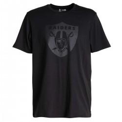 11859985_T-Shirt NFL Oakland Raiders New Era Tonal Black logo Noir pour Homme