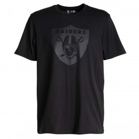 11859985_T-Shirt NFL Oakland Raiders New Era Tonal Black logo Noir pour Homme
