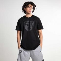 T-Shirt NFL Oakland Raiders New Era Tonal Black logo Noir pour Homme