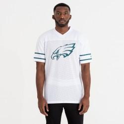 Maillot NFL Phialadelphia Eagles New Era Team Logo Oversized Blanc pour homme