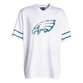 11859990_Maillot NFL Phialadelphia Eagles New Era Team Logo Oversized Blanc