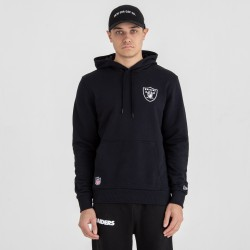 Sweat à Capuche NFL Oakland Raiders New Era Team logo Hoody Noir pour Homme