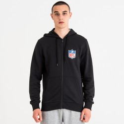 11860009_Sweat à capuche Zippé NFL New Era League Hoody Noir pour homme