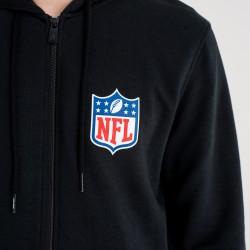 Sweat à capuche Zippé NFL New Era League Hoody Noir pour homme
