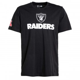 11860013_T-Shirt NFL Oakland raiders New Era Fan Logo Noir pour Homme