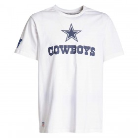 11860016_T-Shirt NFL Dallas Cowboys New Era Fan Logo Blanc pour Homme