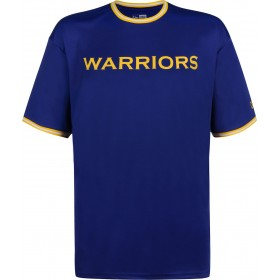 11860064_T-Shirt NBA Golden State Warriors New Era Tipping Wordmark Bleu pour Homme