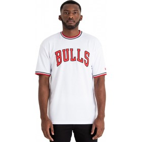11860066_T-Shirt NBA Chicago Bulls New Era Tipping Wordmark Blanc pour Homme