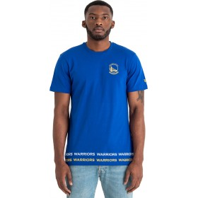 11860069_T-Shirt NBA Golden State Warriors New Era Team Wordmark Bleu pour Homme