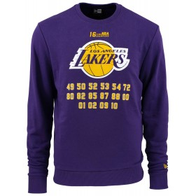 11860081_Sweat NBA Los Angeles Lakers New Era Team Champion Crew Violet pour Homme