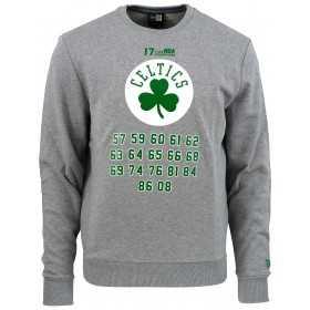 11860083_Sweat NBA Boston Celtics New Era Team Champion Crew Gris pour Homme