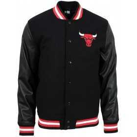 11860084_Blouson NBA Chicago Bulls New Era Team Logo Varsity Noir pour Homme