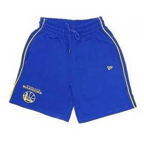 11860089_Short NBA Golden State Warriors New Era Stripe Piping Bleu pour homme