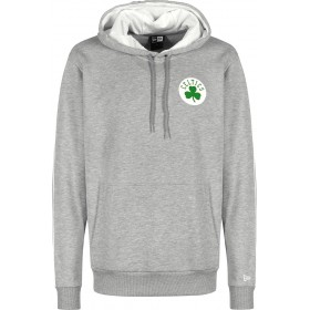 11860100_Sweat à Capuche NBA Boston Celtics New Era Stripe Piping Hoody Gris pour Homme