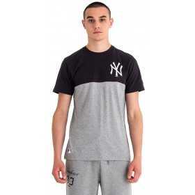 11860154_T-Shirt MLB New York Yankees New Era Colour Block Noir pour Homme