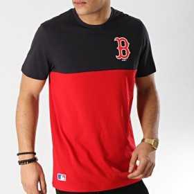11860156_T-Shirt MLB Red Sox New Era Colour Block Rouge pour Homme