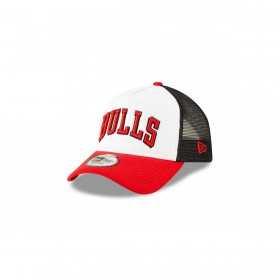 11871270_Casquette NBA Chicago Bulls New Era Team Trucker Colour Block Blanc