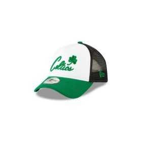 11871272_Casquette NBA Boston Celtics New Era Team Trucker Colour Block Blanc
