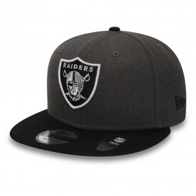 11871352_Casquette NFL Oakland Raiders New Era Heather Snapback 9Fifty Noir