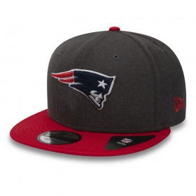 11871353_Casquette NFL New England Patriots New Era Heather Snapback 9Fifty Noir