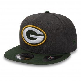 11871354_Casquette NFL Greenbay Packers New Era Heather Snapback 9Fifty Noir