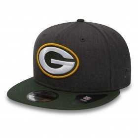 11871354_Casquette NFL Greenbay Packers New Era Heather Snapback 9Fifty Noir