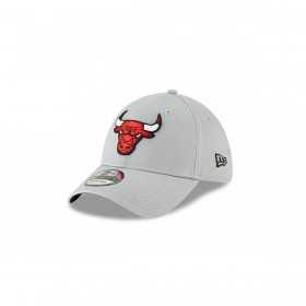 11871427_Casquette NBA Chicago Bulls New Era Team 39Thirty Gris