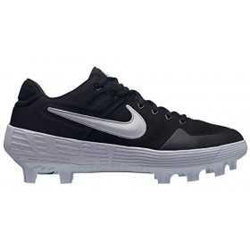 AO7961-001_Crampons de Baseball moulé Nike Alpha Huarache Elite 2 Low Noir WHT Pour Homme