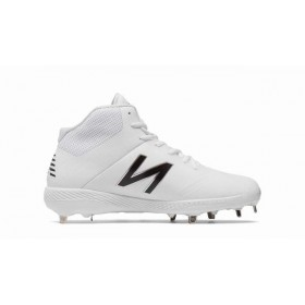 M4040SW4_Crampons de Baseball New balance Spikes Metal Mid 4040V4 Blanc pour Homme