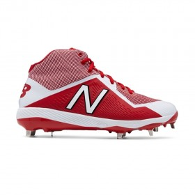 M4040TR4_Crampons de Baseball New balance Spikes Metal Mid 4040V4 Rouge pour Homme