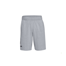 1329300-035_Short en cotton Under Armour Sportstyle Graphic Gris pour Homme