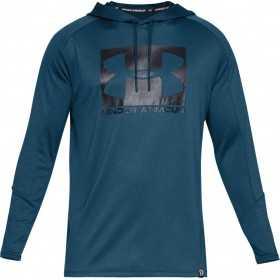 1331609-437_Sweat à capuche Under armour Lighter Longer PO Hoodie Bleu Pour Homme