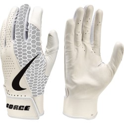 Gants de Batting Nike Force Edge Blanc pour adulte