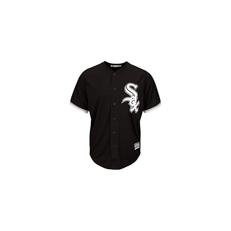 Maillot MLB Chicago White Sox Replica Cool Base Noir Pour Homme