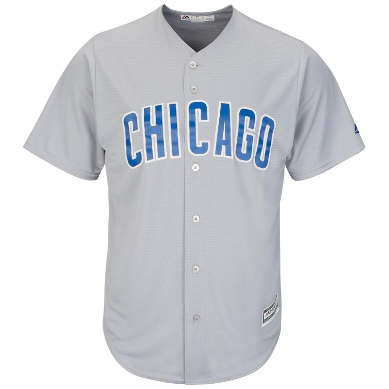 Maillot MLB Chicago Cubs Replica Cool Base Gris Pour Homme