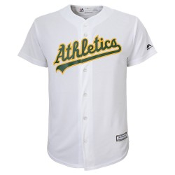 Maillot MLB Oakland Athletics Majestic Replica Cool Base Blanc Pour Homme